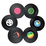 txian 6Retro Vinyl LP Schallplatten Stil Untersetzer Tasse Matte Rutschfeste Isolierte Kaffee Getränke Matte