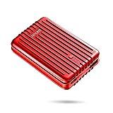 Zendure A3TC Powerbank 10000mAh, Externer Akku mit USB-C, 2 USB Ports Output für iPhone,Samsung Galaxy,HTC,Huawei und Andere Smartphones -Rot