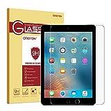 OMOTON Panzerglas Schutzfolie für das neu iPad 9,7 2017, iPad Pro 9.7 / iPad Air mit [2,5D abgerundete Kanten], [9H Härte], [kristallklar], [kratzfest]
