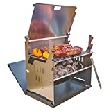 FENNEK GRILL, Tablet Grill, Laptop Grill, Holzkohle Grill, Outdoor Grill, Mobiler Grill, Camping Grill, Picknick Grill, Notebook Grill, Grill to go