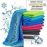 Kühlendes Handtuch 120x35cm, Mikrofaser Sporthandtuch kühlend, Kühltuch, Cooling Towel, Mikrofaser Handtuch – Farbe: blau, Größe: 120x35cm