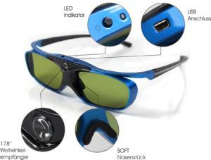 3D Brille DLP - Blue Heaven