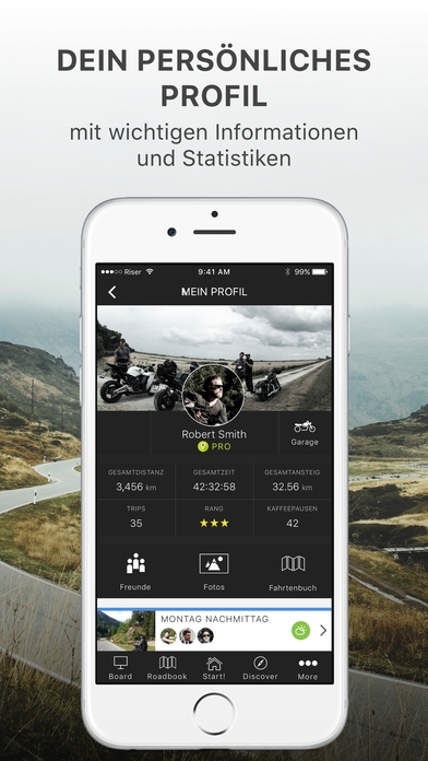 RISER - Deine Motorrad App Android